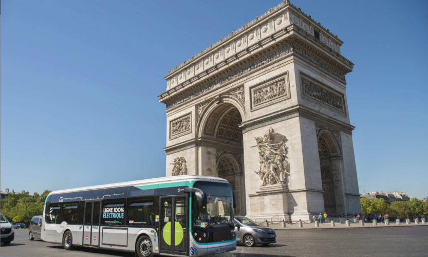 Ligne 341 RATP bus électrique Bolloré