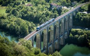 TER Auvergne-Rhône-Alpes Viaduc de Cize-Bollozon