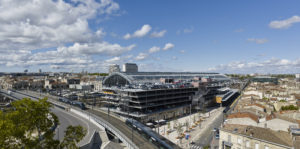 Gare de Bordeaux Saint-Jean, acces Belcier - Vue d'ensemble (Sept. 2017)