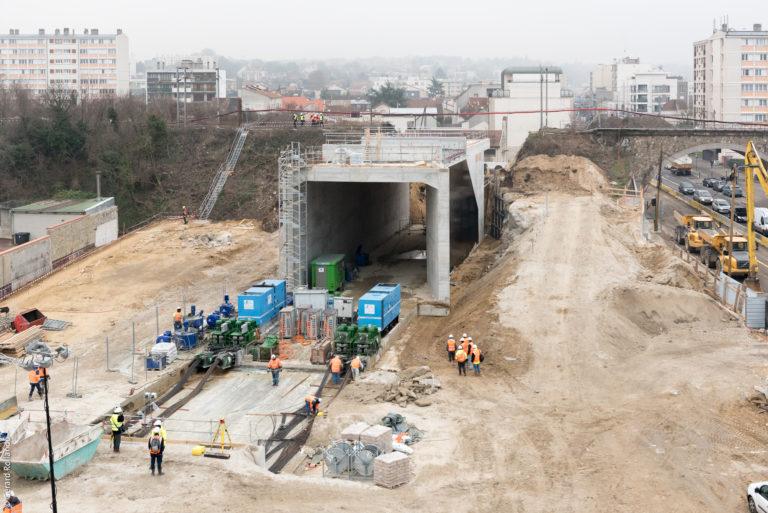 Champigny ripage du pont-rail SGP Société du Grand Paris