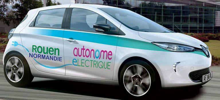 ZOE électrique autonome Rouen Métropole