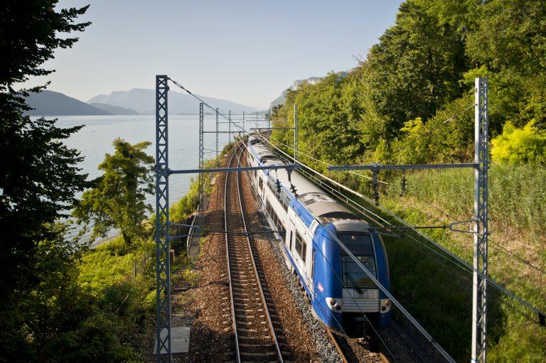 Circulation de TER en Rhone Alpes