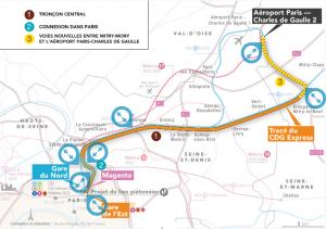 CDG Express tracé