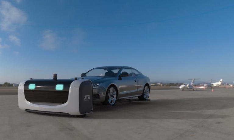 Stan le robot-voiturier de l'aéroport Lyon Saint-Exupéry
