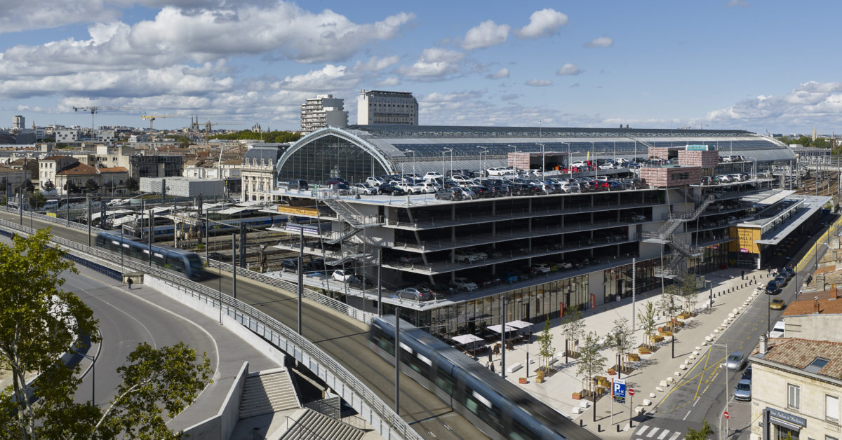 Gare de Bordeaux Saint-Jean, acces Belcier - Vue d'ensemble (Sept. 2017)