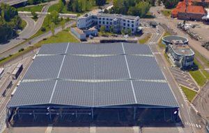 CTS Des panneaux photovoltaïques sur les dépôts des tramways de Strasbourg