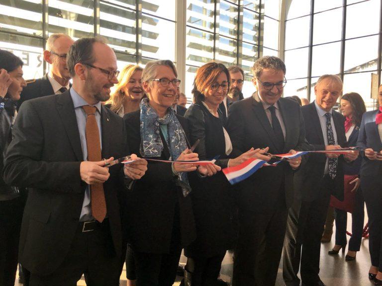 Elisabeth Borne et son homologue suédois, le ministre des Infrastructures Tomas Eneroth, Solutrans 2017