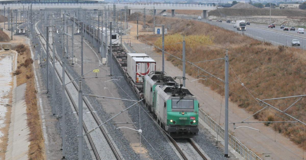 1er_convoi Fret modalhorr sur CNM Contournement Nîmes Montpellier