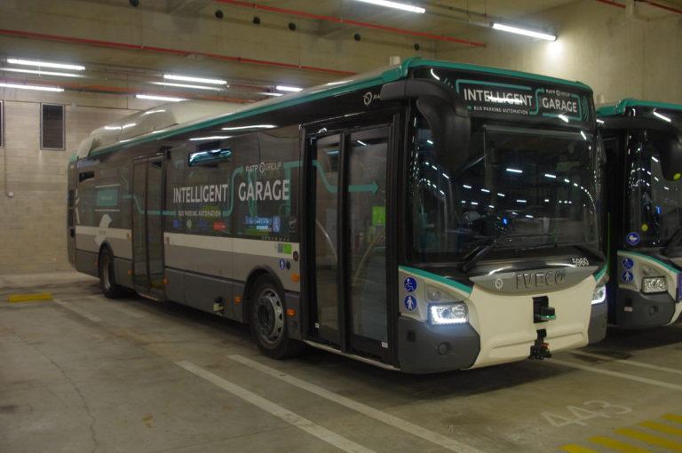 la ratp teste le garage autonome des bus ville rail et transports. Black Bedroom Furniture Sets. Home Design Ideas