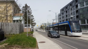 test de nuit tramway de Warterloo au Canada