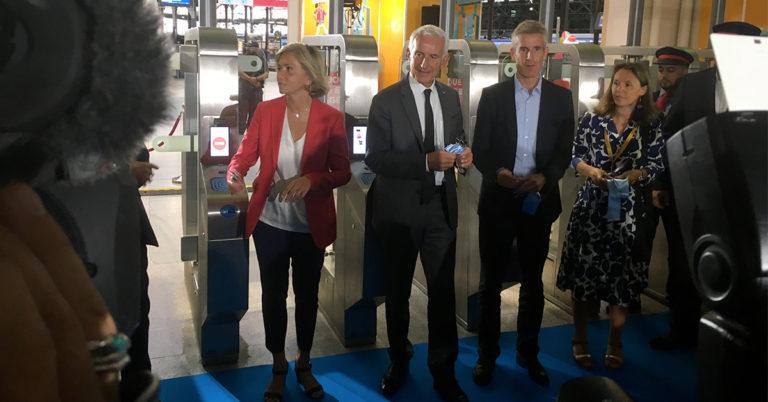 Inauguration portiques gare Saint-Lazare