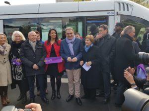 inauguration du tram T6 à Lyon le 22/11/2019