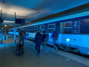 gare de Paris Austerlitz, le 20 mai 2021, relance du Paris-Nice de nuit