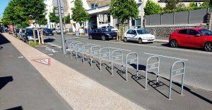 Piste cyclable vélo trottoir Clermont Ferrand