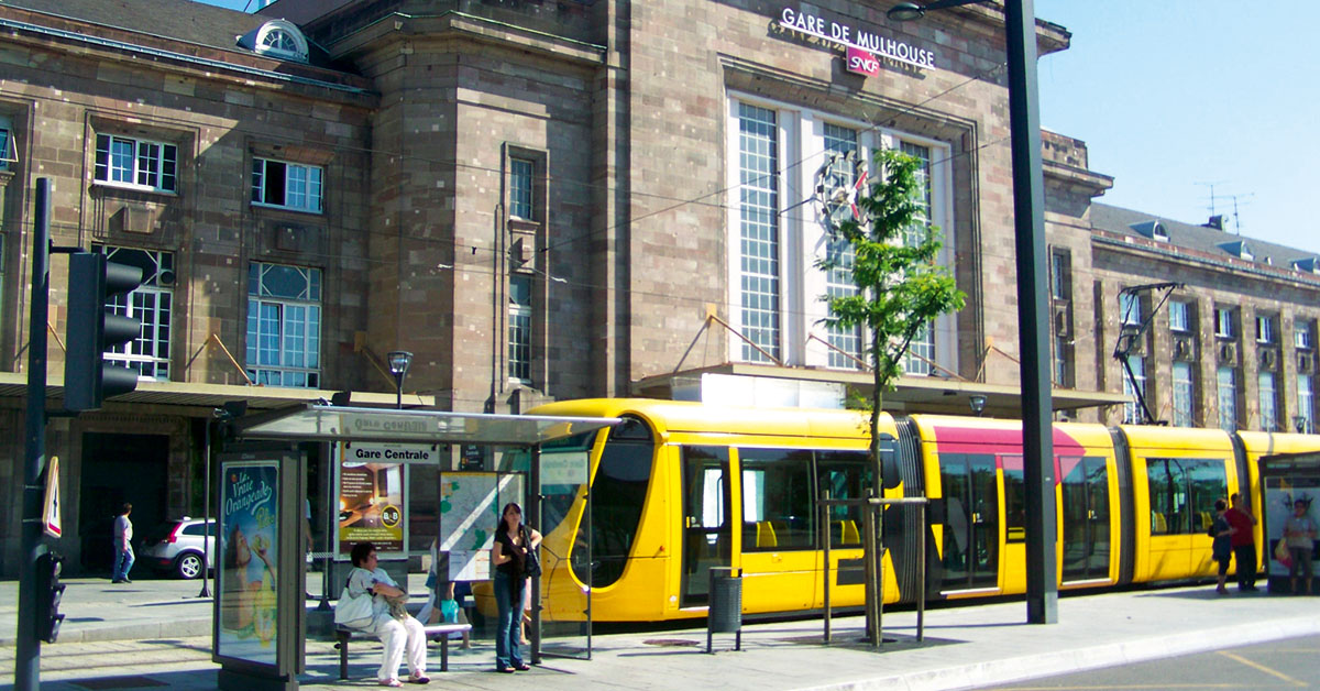 Gare Mulhouse et tram 1